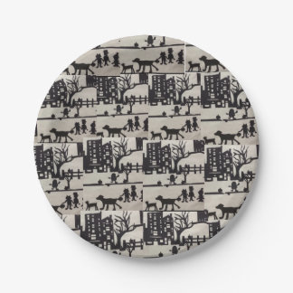 Trick-or-Treat Halloween Paper Plates 7 Inch Paper Plate