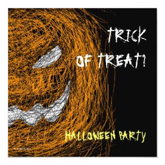 Trick Or Treat Halloween Party Invitation Pumpkin