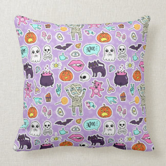 Trick Or Treat Halloween Pattern Pillow
