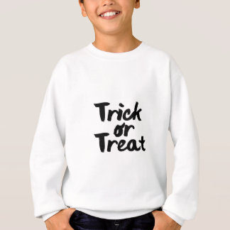 Trick or Treat Halloween Printed Brush Stroke Sweatshirt