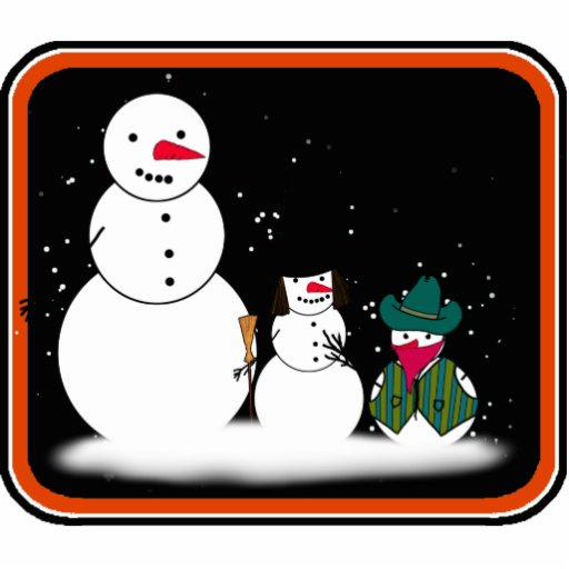 Trick or Treat Halloween Snowmen Photo Cut Outs