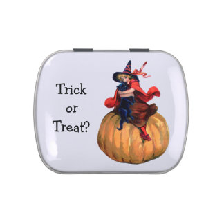 Trick or Treat Halloween Vintage Girl Witch