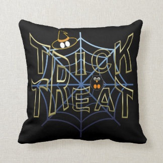 Trick-or-Treat-Haloween Throw Pillow