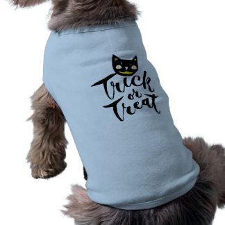 Trick or Treat - Hand Lettering Design Dog Tshirt
