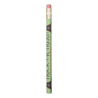 Trick or Treat Happy Halloween Witch Hat Favor Pencil