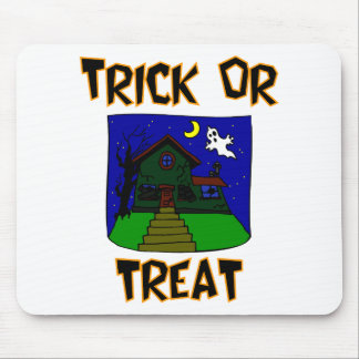 Trick Or Treat Haunted House Mousepad