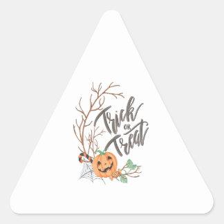 Trick or Treat Illustration Triangle Sticker