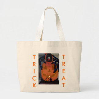 Trick or Treat, Jack-o-lantern&Spider Canvas Bags