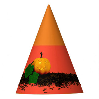 trick or treat - Jack O'Lantern pumpkin Party Hat