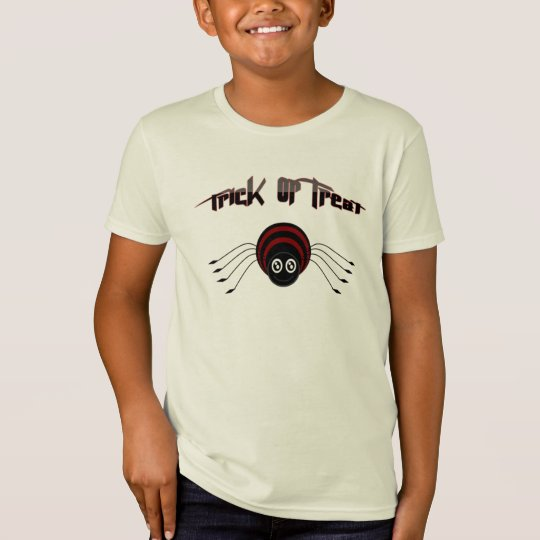 Trick or treat kids Shirt and cute spider - shirt