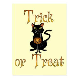 Trick or Treat Kitty Postcard