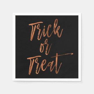 Trick or Treat Modern Halloween Napkins Paper Napkins