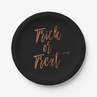 Trick or Treat Modern Halloween Plates