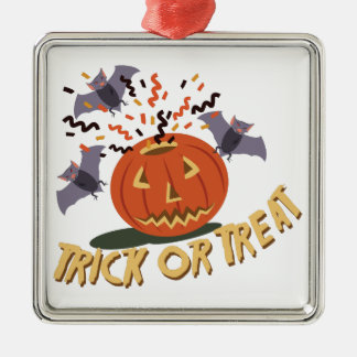 Trick Or Treat Motif Metal Ornament