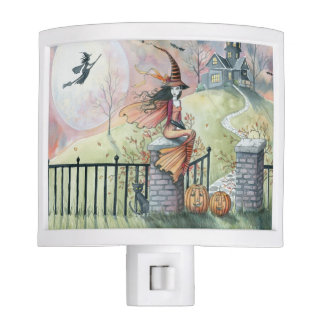 Trick or Treat My Sweet Witch Halloween Art Night Lite