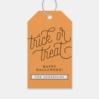 Trick or Treat Personalized Halloween Pack Of Gift Tags