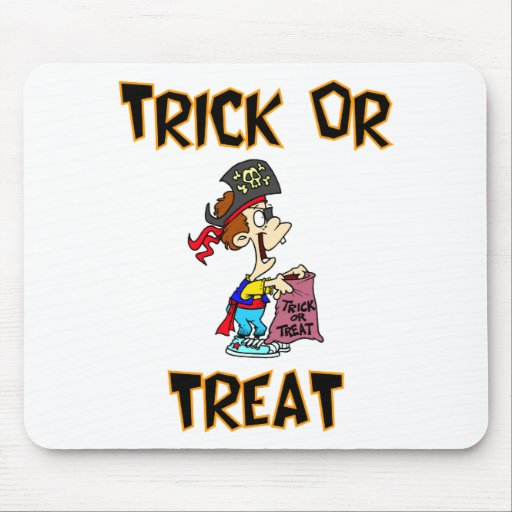 Trick Or Treat (Pirate Costume) Mousepads