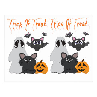 """Trick or Treat"" Postcard"
