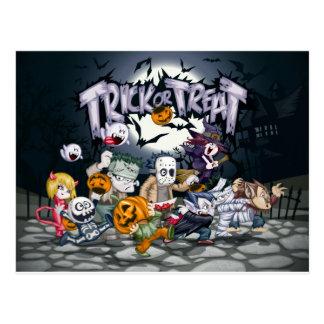 Trick or treat! postcard