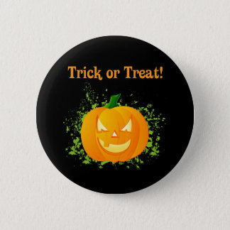 Trick or Treat Pumpkin 2 Inch Round Button