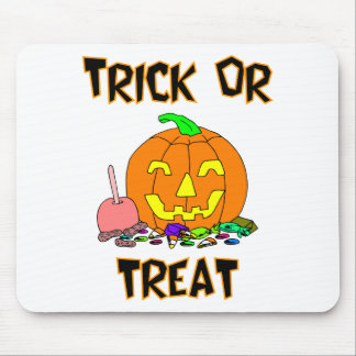 Trick Or Treat Pumpkin And Candy Mousepads