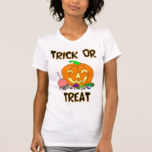 Trick Or Treat (Pumpkin And Candy) Tee Shirt