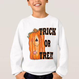 Trick Or Treat Pumpkin Kids Sweatshirt