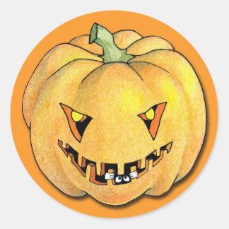 Trick or Treat Pumpkin Sticker
