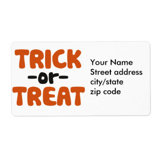 Trick or Treat Shipping Label