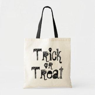 Trick or Treat skull reusable tote