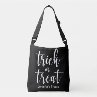 Trick or Treat Stylish and Classy Calligraphy Hall Crossbody Bag