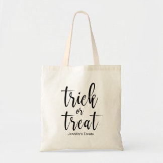 Trick or Treat Stylish and Classy Calligraphy Hall Tote Bag