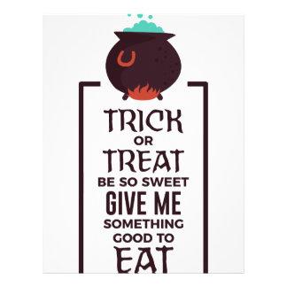 Trick Or Treat Sweet Candy Halloween Design Letterhead
