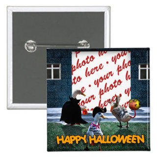 Trick or Treat Time for these Little Ducks 2 Inch Square Button