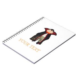 Trick or Treat Toddler Dracula Vampire Custom Name Notebook