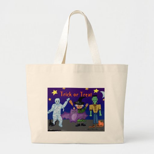 Trick or Treat Tote Bag with Goblins