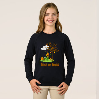 Trick or treat Turtle Pumpkin tree cloud garden Sweatshirt