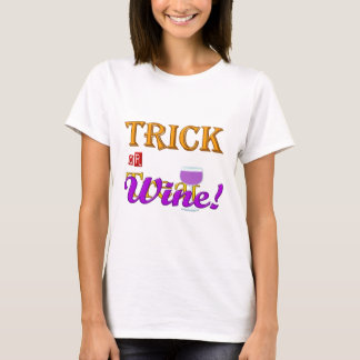 Trick OR Treat Wine Halloween Design T-Shirt