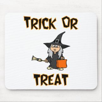 Trick Or Treat Witch Costume Mouse Pads