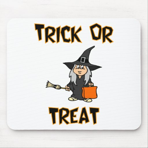 Trick Or Treat (Witch Costume) Mouse Pads