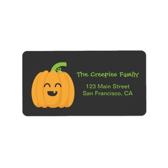 Trick or Treat with Cute Pumpkin for Halloween