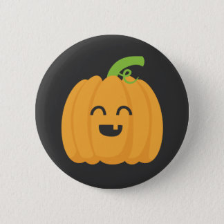 Trick or Treat with Cute Pumpkin for Halloween 2 Inch Round Button
