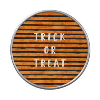 Trick or Treat with Orange and Black Stripes