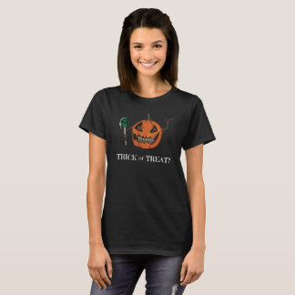 Trick or Treat? - womens t-shirt
