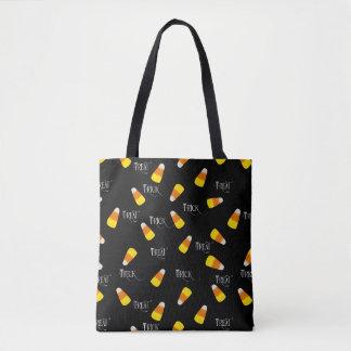 Trick or Treating hallowe'en candy corn Tote Bag