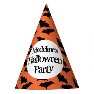 Trick or Treating Halloween Party Orange Kids Party Hat