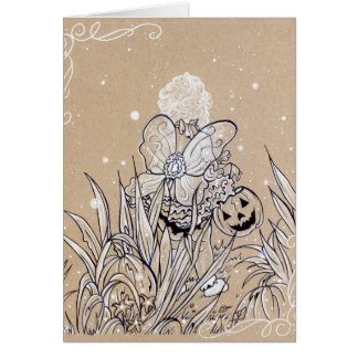 Trick or Trick fantasy art greeting card