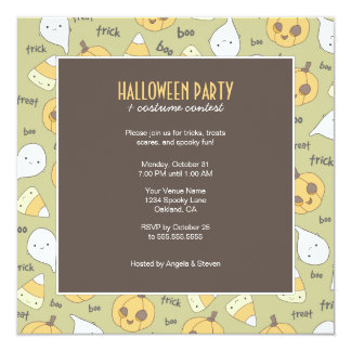 Trick Treat Boo! | Halloween Party Invitations