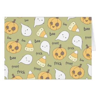Trick Treat Boo | Happy Halloween Note Card