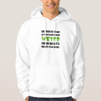 Trick Weird Back Out Black Hoodie